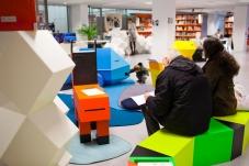 L'espace enfants du centre de ressources de la Gaîté Lyrique en décembre 2012